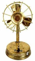 Nirmala Handicrafts Brass Fan Decorative Electric Showpiece And Table & Gift Item