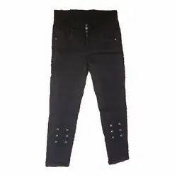 Zipper Black Ladies Designer Jeans, Waist Size: 26-32