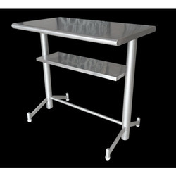 SKCE Polished SS Rectangular Standing Eating Table for Hotel