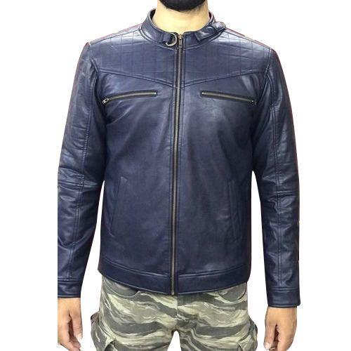 Blue Mens Leather Jacket, Gents Leather Jackets - Neha Fashion ...