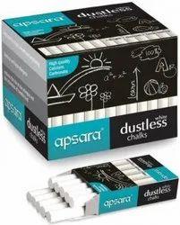Apsara White Dustless Chalks