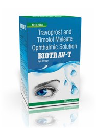Travoprost and Timolol Meleate Eye Drops, Packaging Type: Box, 2.5 Ml