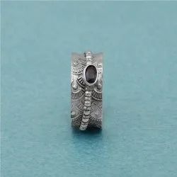 925 Sterling Silver Handmade Spinner Ring