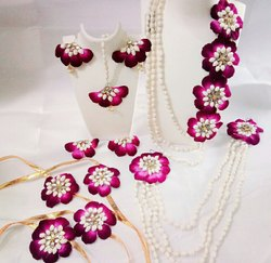 Artificial Flowers Jewellery For Baby Shower Red And White Flower