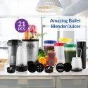 Bullet High Speed Grinder Juicer and Chopper 21 Piece Amazing Multi Purpose Blender Set for Kitchen