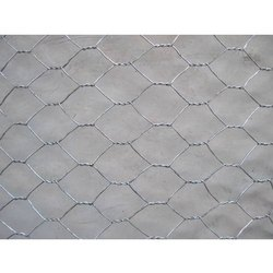 Galvanized Iron Silver Hexagonal Wire Mesh, Thickness: 6-8mm