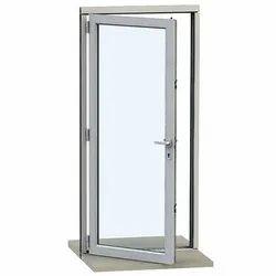 Gray Single Door Aluminum Hinged Window