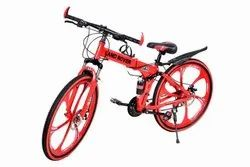 Land Rover Red Six Spoke Foldable Cycle