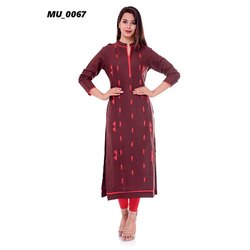 Ladies A-Line Cotton Kurti