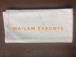 Mailam Exports Plain White Kitchen Towel