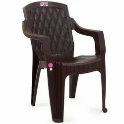 3 Kgs With Hand Rest (arms) Avro 5052 Brown Molded Plastic Chair