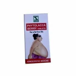 Homeophatic Medicine Tablets Phytolacca Berry Tablet, For Personal, Packaging Size: 20 Grams
