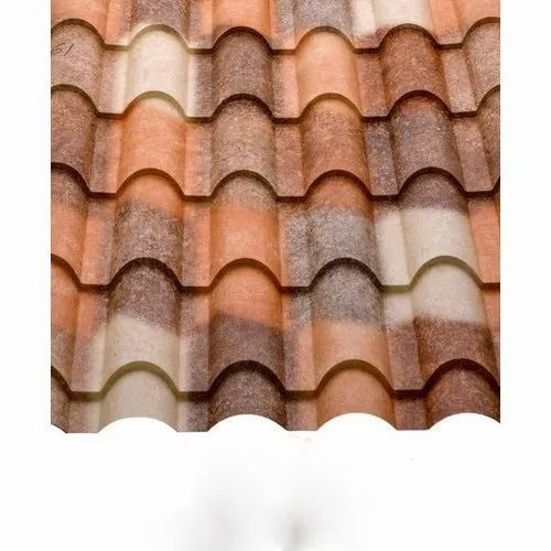 Aluminum Georoof Natura Tile Roofing Sheet Rs 51 Square Feet Union Steel Company Id 20635730555