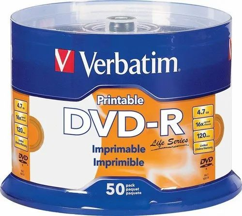 image relating to Printable Dvd-r named Verbatim Dvd Recordable Dvd R Ijp Inkjet Printable 4.7 Gb