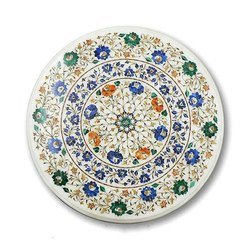 Beautiful Round Cut Marble Floor Inlay