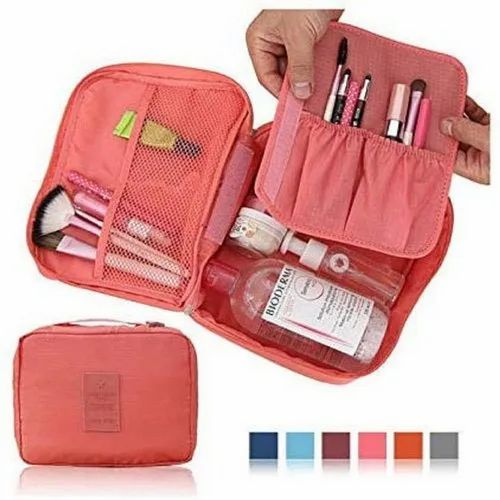 Cosmatic Pouch Pink Cosmetic Toiletry Bag, Rectangle