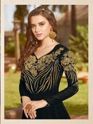 Indo Western Semi-Stitched Raazi Designer Party Wear Gown