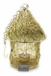 AuraDecor Hut Shape Hanging Tealight Holder