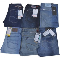 Plain Regular Fit Lee Mens Denim Jeans, Waist Size: 30