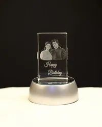 Fusion Crystals Engraved Crystal Photo Frame, Size: 5x5x5 Cm