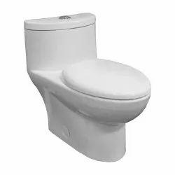 White Floor Mounted Cera One Piece Western Toilet