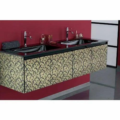 Wooden Wall Mounted Designer Bathroom Vanity Size 1 5x3 Feet Rs 18650 Piece Id 21407113830