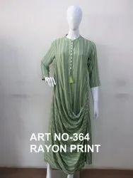 Ladies Rayon Print Kurti