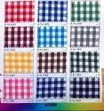 Polyester Viscose Baby Check Fabric