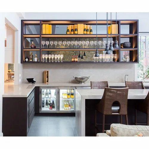 Wood And Glass Acme Living Room Bar, Living Room Bar