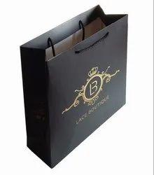 Black Premium Paper bags, For Shopping, Capacity: 1kg