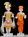White Marble Swami Narayan Status