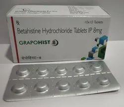 Betahistine Dihydrochloride 8 Mg Tablets