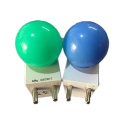 Round Colored LED Bulb, Packaging Type: Box