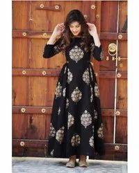Ladies Black Designer Anarkali Kurti
