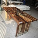 Natural Rectangular Epoxy Wood Table, For Home, Size: 180*90*75cm