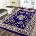 Blue Handloom Cotton Carpet, Size: 4.5 X 6.5 Feet