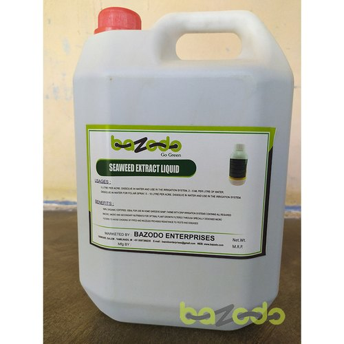 Bazodo Seaweed Drip Irrigation Liquid For Plant Booster 5 Litre For 1 Acre