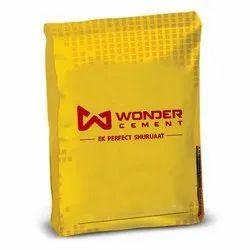 Wonder Cement, Grade: Grade 43, Packaging Type: HDPE Sack Bag