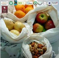 Oeko Tex Certified Cotton Produce Bag