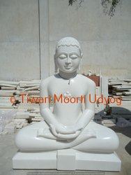 White Marble Mahaveer Swami Statue