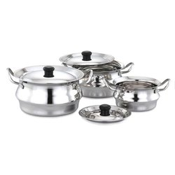 Steel Finish Magnum Pot Set