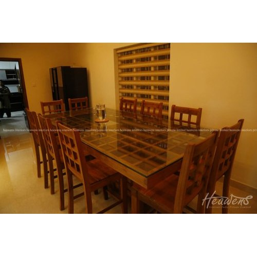 3 Feet Table Height Countertop Glass Top Dining Table Set Id