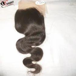 Single Drawn Human Closure Hair Wefts