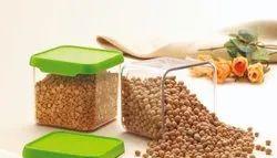 Nirlon Square Container Set Of 2 ABS Plastic  550 ml Food,Container