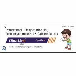 Paracetamol Phenylephrine HCL Diphenhydramine HCL And Caffeine Tablets