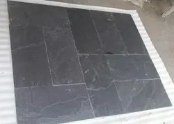 Natural Black Slate Stone, Tiles, Thickness: 10mm
