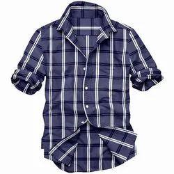 Check Long Sleeve Men Cotton Ready Made Shirts