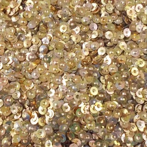 Eshoppee 1kg 8mm Copper Colour Round Shape Sequins Sitara
