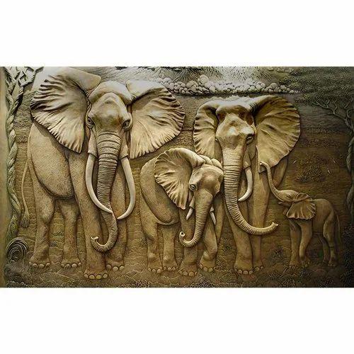 3d Elephant Wallpaper