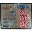 Gold Rate LED Display Board